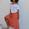 gypsy red skirt ibiza trendy zoe