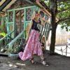 retocada gypsy pink skirt frill ibiza trendy julia