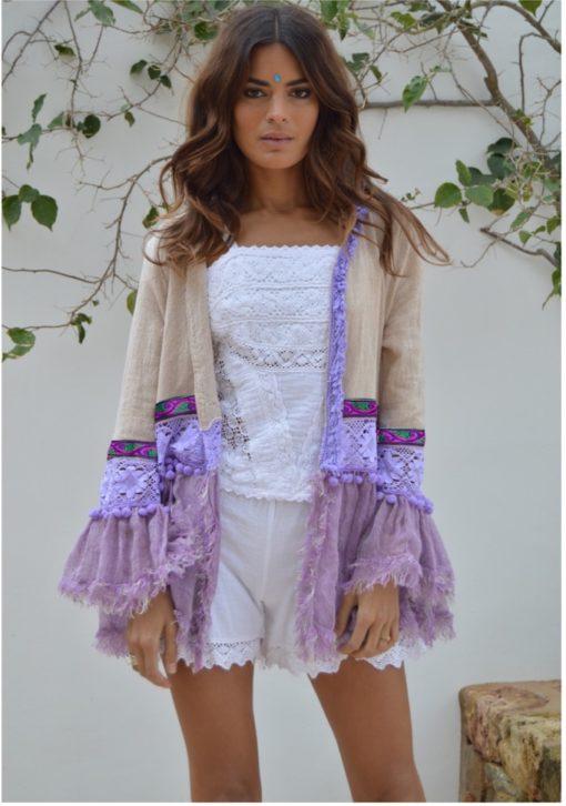 verti New Chaqueta lino lila fioroni collection ibiza online shop
