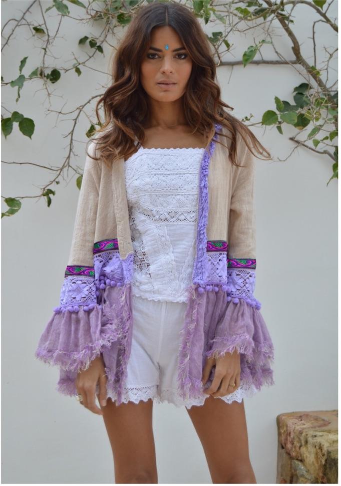 costo moderado zapatos genuinos 100% de alta calidad [:es]Chaqueta lino lila[:en]Linen jacket in violet [:]