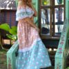 buttefly dress salmon boho chic ibiza trendy 2