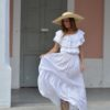 butterfly dress ibiza trendy boho chic white lace dress