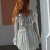 lurex silver blouse back