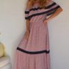 Butterfly coral dress boho chic ibiza trendy