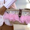 capazo plumas rosa ibiza trendy