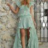 falda 29 asimetrica verde boho chic ibiza trendy fioroni collection