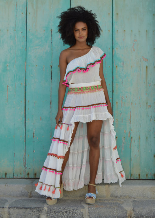 fioroni collection asymmetrical skirt boho chic ibiza trendy