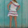 mini falda y top pompones ibiza trendy