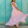 vestido boho chic fiororni collection pink