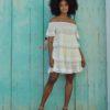 vestido fioroni flores blanco roto ibiza trendy