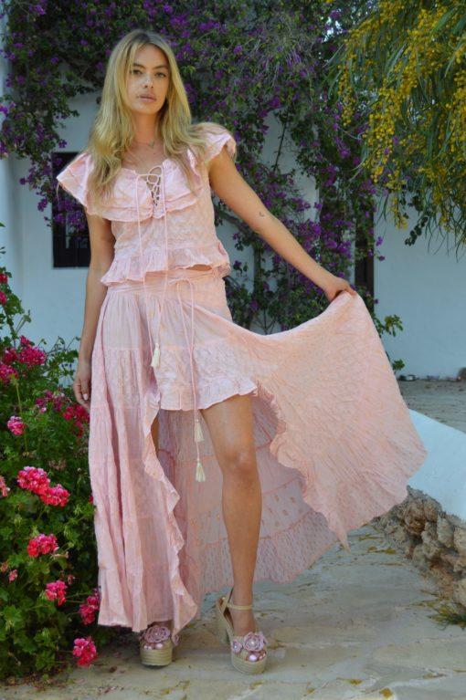 Indian asymmetrical skirt ibiza trendy boho chic