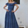 fioroni maxi dress in blue night ibiza trendy