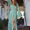 kimono free love pasley verde boho chic ibiza trendy