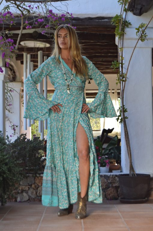 kimono free love verde ibiza trendy