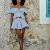 mini falda y top fioroni collection color azul