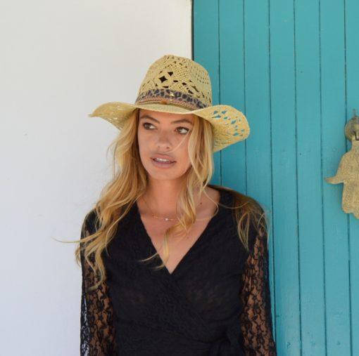 sombrero cowgirl leopardo ibiza trendy