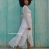 white lace kimono boho chic ibiza trendy