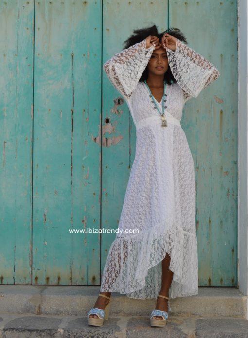 white lace kimono ibiza trendy free love