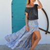 asymmetrical ibiza skirt ibiza trendy lavander