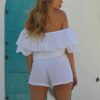 White ibiza playsuit ibiza trendy boho