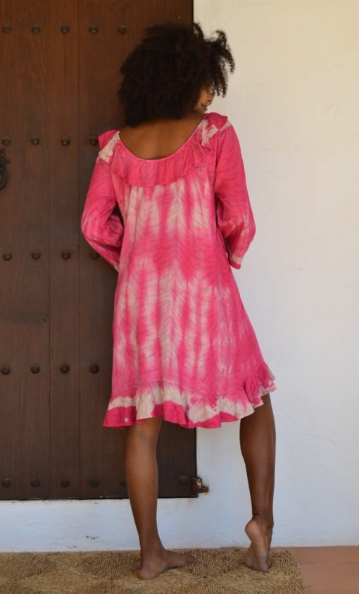pink zebra dress ibiza trendy izuskan