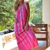vestido izuksan batik fucsia boho chic ibiza tulle