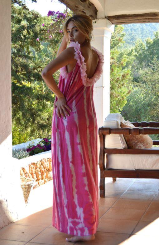 vestido izuskan largo batik espalda aire
