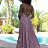 free beach rose dress ibiza trendy