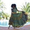 gypys skirt in green ibiza trendy boho chic