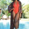 kimono seda boho chic india xian free love ibiza trendy negro