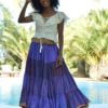 lilac gypsy skirt ibiza trendy