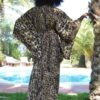 maki kaftan leopard print gold ibizat rendy