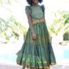 maxi fada verde gypsy ibiza trendy boho