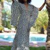 maxi kaftan ibiza trendy leopard