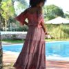 sarah k boho dress ibiza trendy free love rose