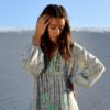 Janis blouse in green peasant indian blouse ibiza trendy