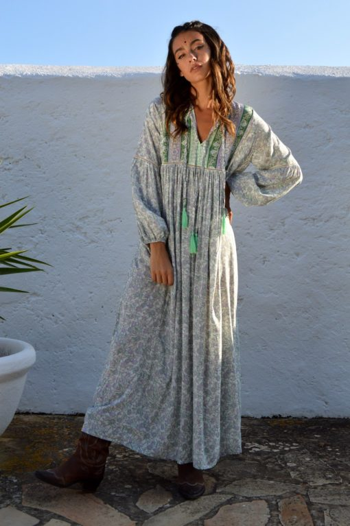Janis green dress ibiza trendy boho chic