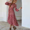 red and gold dress ibiza trendy boho chic