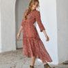 red gauze boho chic dress ibiza trendy