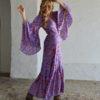violet shaped bell kimono ibiza trendy